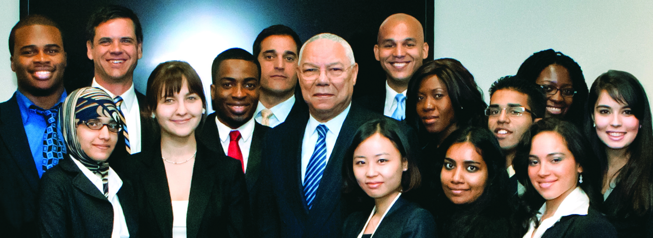 General Colin Powell with students